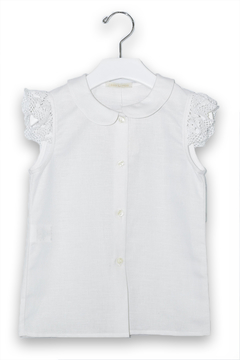cesar blanco White Linen Blouse - Product List Image