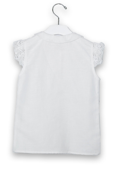 cesar blanco White Linen Blouse - Alternate List Image