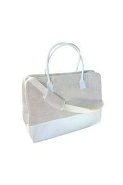 Mainstreet Collections White Linen Duffle - Alternate List Image
