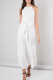 Do & Be White Linen Jumpsuit - Product Mini Image