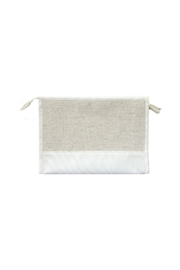 Mainstreet Collections White Linen Pouch - Front cropped