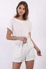 Final Touch White Linen Romper - Product Mini Image
