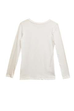 Femme White Long-Sleeve Top - Alternate List Image