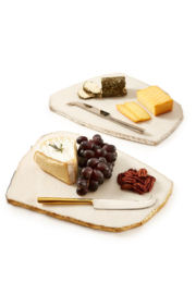 Two's Company White Marble Plate w/ Knife - Product Mini Image
