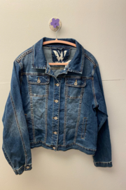 Kindred Mercantile  White Mark Denim Jacket - Product Mini Image