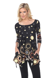WhiteMark White Mark's Circle Print Tunic Top with Pockets - Product Mini Image