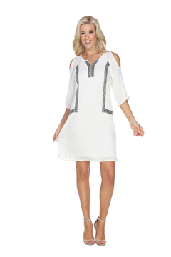 Shoptiques Product: White Mark's Diamond Pattern Embroidered Dress
