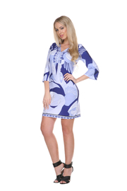 WhiteMark White Mark's Geometric Print Sheath Dress - Product Mini Image
