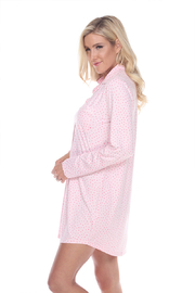 WhiteMark White Mark's Long Sleeve Nightgown - Side cropped