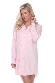 WhiteMark White Mark's Long Sleeve Nightgown - Product Mini Image