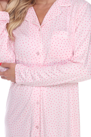 WhiteMark White Mark's Long Sleeve Nightgown - Other
