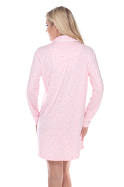 WhiteMark White Mark's Long Sleeve Nightgown - Back cropped