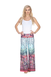 WhiteMark White Mark's Ombre Paisley Print Palazzo Pants - Product Mini Image