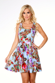 WhiteMark White Mark's Paisley Print Fit and Flare Dress - Product Mini Image