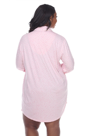 WhiteMark White Mark's Plus Size Long Sleeve Nightgown - Side cropped