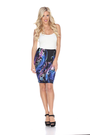 WhiteMark White Mark's Printed Pencil Skirt - Front cropped