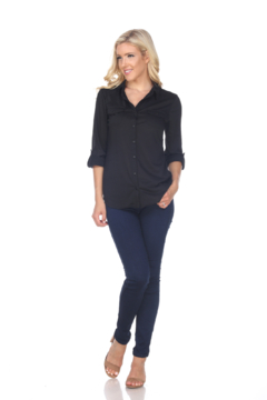 White Mark  White Mark's Skylar Stretchy Button-Down Top - Product List Image