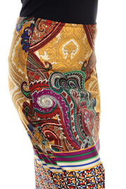 WhiteMark White Mark's Vintage Paisley Printed Pencil Skirt - Side cropped