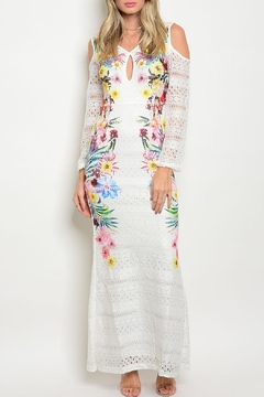 Dygarni White Floral Maxi Dress - Product List Image