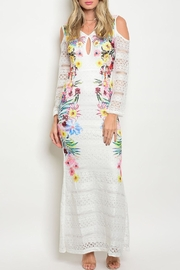 Dygarni White Floral Maxi Dress - Product Mini Image