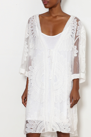 Tempo Paris White Mesh Cover-Up - Product Mini Image