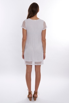 Trouble at the mill White Mesh Dress - Alternate List Image