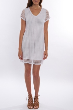 Trouble at the mill White Mesh Dress - Product List Image