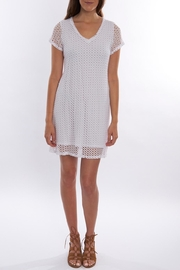 Trouble at the mill White Mesh Dress - Product Mini Image