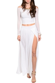 Eien White Mesh-Skirt Set - Product Mini Image