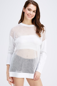 Shoptiques Product: White Mesh Top