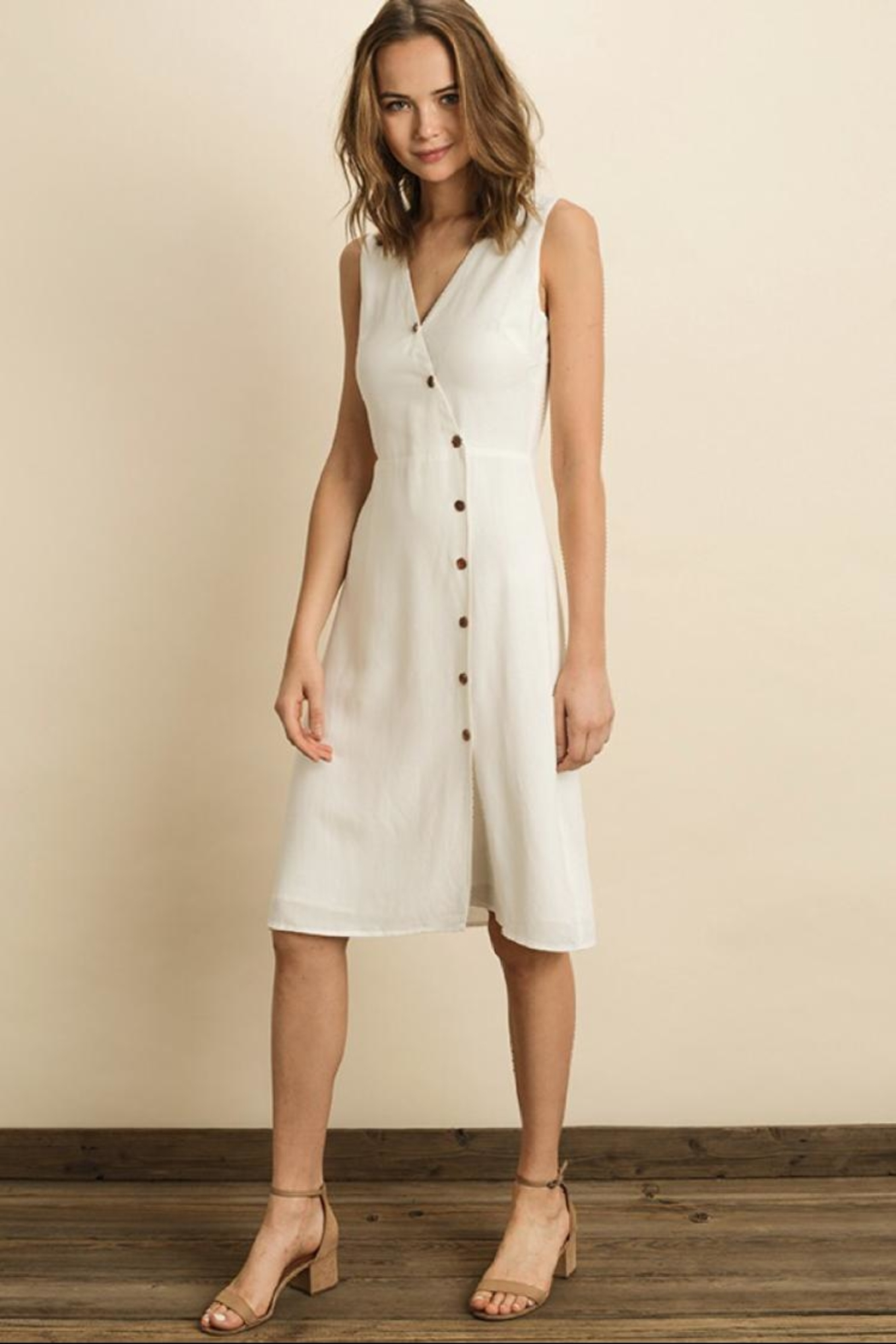 dress forum White Midi Dress - Front Full Image