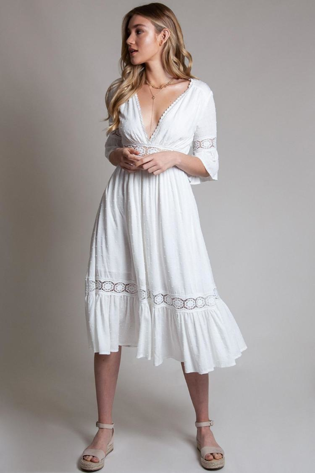 Latiste White Midi Dress - Main Image