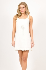 Very J  White Mini Dress - Front cropped