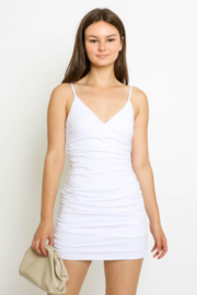 Olivaceous  White Mini Dress - Product Mini Image