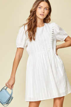 Andree by Unit White Mini Dress - Product List Image