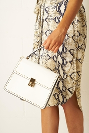 frontrow White Mini-Tote Bag - Front cropped