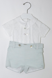 Foque White & Mint Outfit - Front cropped