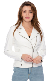 Coalition  White Moto Jacket - Product Mini Image