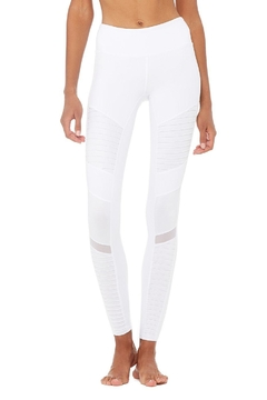 ALO Yoga White Moto Leggings - Product List Image