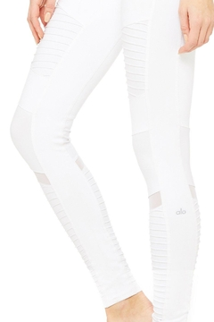 ALO Yoga White Moto Leggings - Alternate List Image