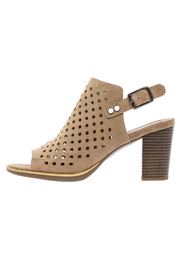 white mountain Perforated Block Heel Bootie - Product Mini Image