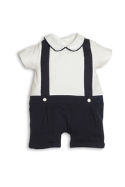 First White-Navy Blue Shortie - Front cropped