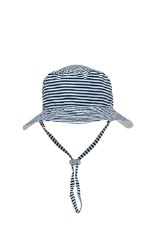 Snapper Rock White/Navy Reversible Bucket Hat - Product List Image