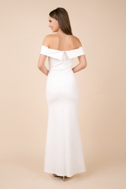 NOX A N A B E L White Off Shoulder Fit & Flare Bridal Gown - Front full body