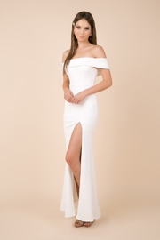 NOX A N A B E L White Off Shoulder Fit & Flare Bridal Gown - Front cropped