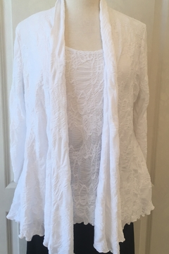 Joseph Ribkoff  White open front cardigan - Alternate List Image