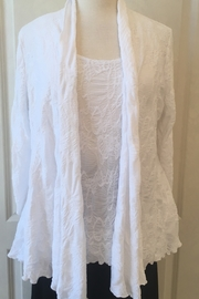 Joseph Ribkoff  White open front cardigan - Product Mini Image