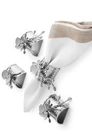 Michael Aram White Orchid Napkin Ring Set - Front cropped