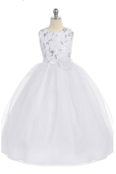 Calla Collections Sparkly Sleeveless Organza Gown - Alternate List Image