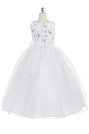 Calla Collections Sparkly Sleeveless Organza Gown - Other